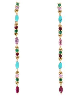 Pendants d'oreille en or Gaia 2 Turquoise SOPHIE D'AGON