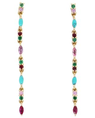 Gaia 2 Turquoise gold ear danglers SOPHIE D'AGON