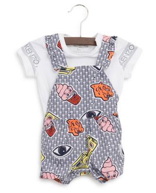 Ensemble combi-short et T-shirt boutonné Wax KENZO