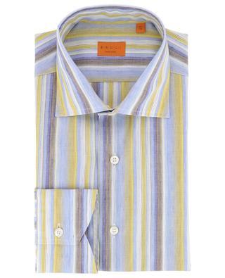 Gestreiftes Hemd aus Baumwolle und Leinen BRULI