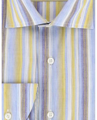 Striped cotton and linen shirt BRULI