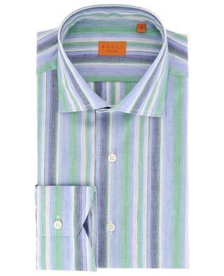 Gestreiftes Hemd aus Leinen und Baumwolle BRULI