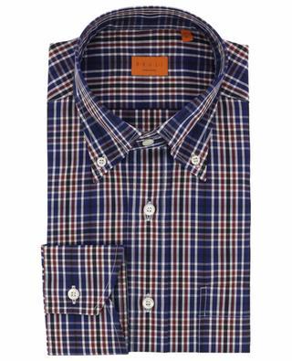 Chemise à carreaux à col boutonné BRULI