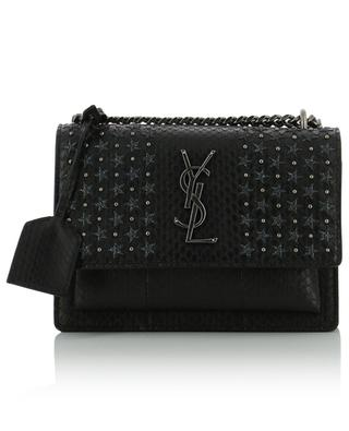 Sunset Small embroidered water snake skin bag SAINT LAURENT PARIS