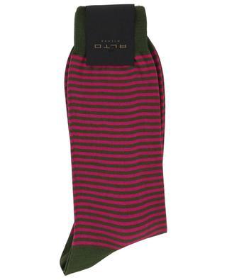 Dylan Short striped cotton socks ALTO