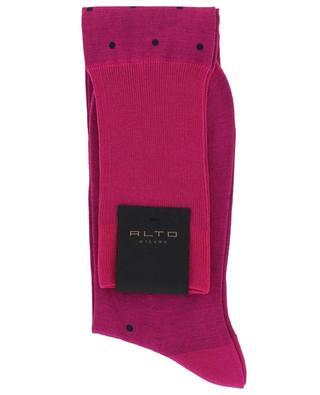 Filoscozia N°219 long polka dot socks ALTO MILANO