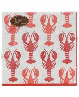 Lobsters Cocktail paper napkins CASPARI