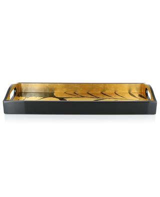 Palm Leaves lacquered wood bar tray CASPARI
