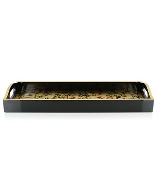 Chinese Wallpaper lacquered wood bar tray CASPARI