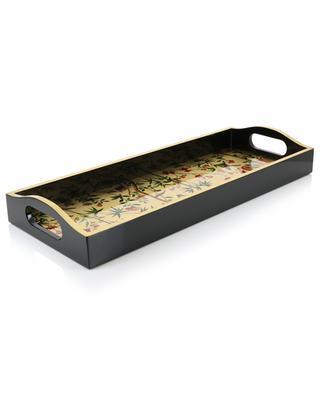 Chinese Wallpaper lacquered wood bar tray CASPARI