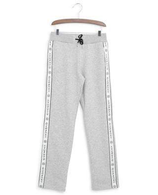 Logo ribbon straight track trousers GIVENCHY