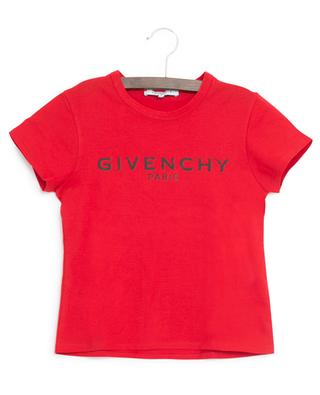 Distressed logo print fitted cotton T-shirt GIVENCHY