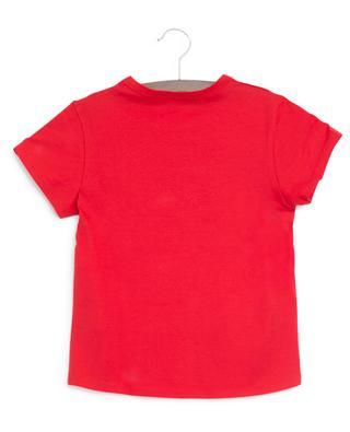 T-shirt ajusté en coton logo vieilli GIVENCHY