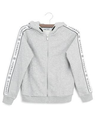 Sweat-shirt à capuche zippé bande logo GIVENCHY