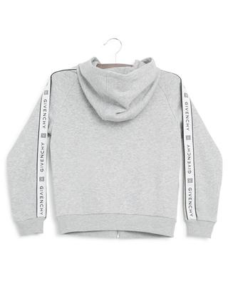 Sweat-shirt à capuche zippé bande logo GIVENCHY
