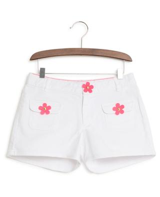 Mini denim shorts with neo flowers LITTLE MARC JACOB