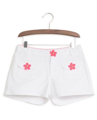 Mini short en jean fleurs fluos LITTLE MARC JACOBS
