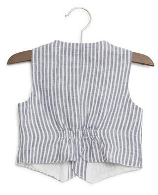 Striped linen vest IL GUFO