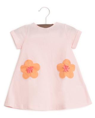 A-förmiges Jerseykleid mit Blumentaschen IL GUFO