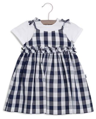 Bodysuit and gingham check dress set IL GUFO