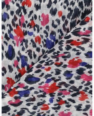 Foulard léopard coloré Felix LITTLE CERISE