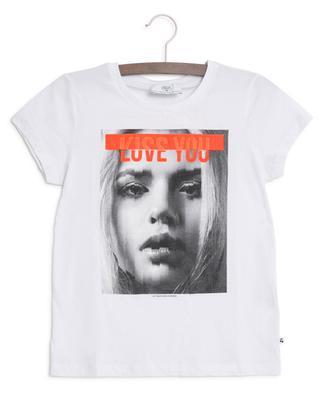 T-shirt imprimé photo et message MonicaGi LITTLE CERISE