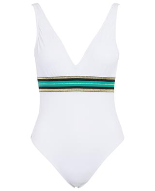 Cally B Splendide V-neck swimsuit KIWI