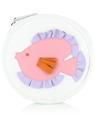Fish embellished leather shoulder bag IL GUFO
