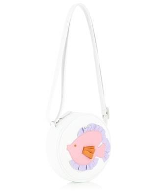 Fish embellished leather shoulder bag IL GUFO