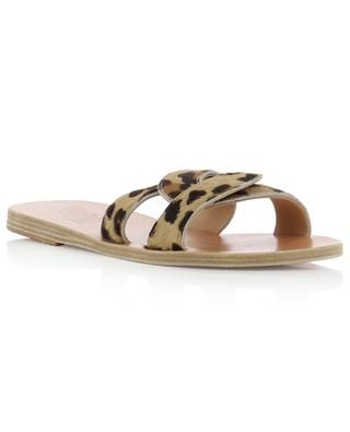 Desmos open leopard print calf hair slides ANCIENT GREEK SANDALS