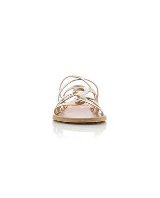 Donousa open metallic leather slides ANCIENT GREEK SANDALS