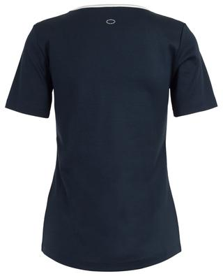 Scoop neck T-shirt with silver detail FRATELLI M