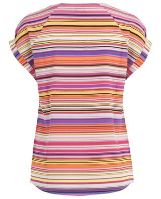 Short-sleeved silk blend top FRATELLI M