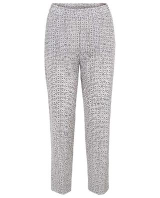 Printed silk trousers WHY MIX