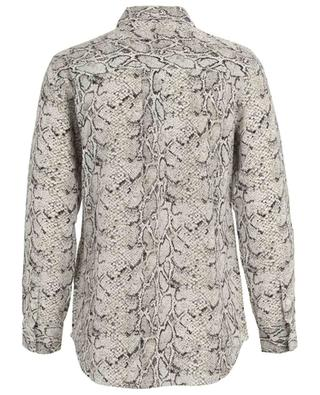 Snakeskin print silk shirt EQUIPMENT