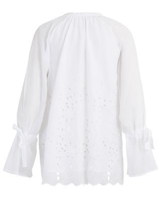 Karin flower embroidered A-line blouse HANA SAN