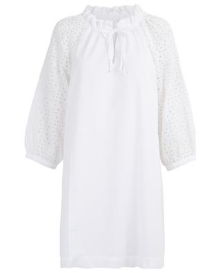 Kurzes A-förmiges Kleid mit Stickereien Iku HANA SAN