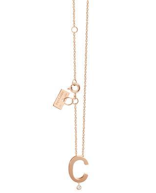 Collier en or rose avec diamant Abécédaire C VANRYCKE