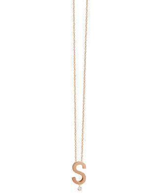 Collier en or rose avec diamant Abécédaire S VANRYCKE