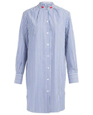 Faenza striped and embroidered shirt dress VIVETTA
