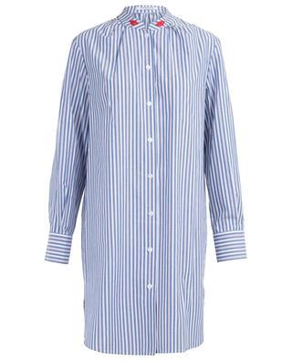 Robe-chemise rayée et brodée Faenza VIVETTA