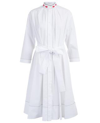 Robe chemise brodée de lèvres Parma VIVETTA