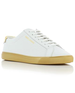 Andy perforated leather sneakers with golden soles SAINT LAURENT PARIS