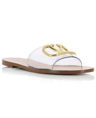 VLOGO flat PVC and leather mules VALENTINO