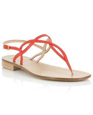 Leather sandals with intertwined straps PAOLO FERRARA