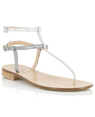 Metallic leather sandals with iridescent detail PAOLO FERRARA