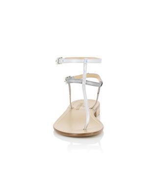 Sandales en cuir métallisé détail irisé PAOLO FERRARA