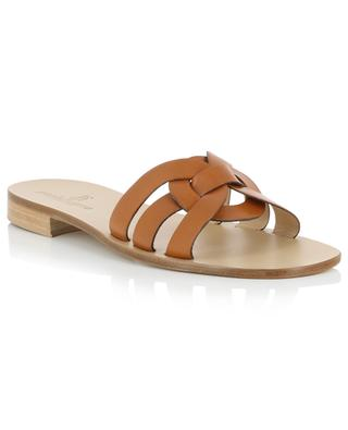 Leather mules with entwined strap PAOLO FERRARA