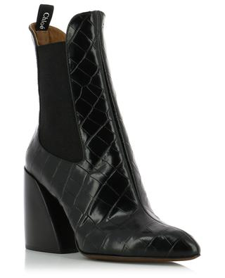 Bottines en cuir effet croco Wave CHLOE