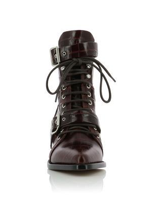 Rylee Medium croc effect multi strap ankle boots CHLOE